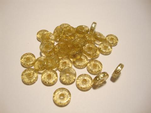Polarishelmi kimalle kulta rondelli 8 mm (4 kpl/pss)
