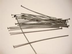 Korupiikki tumma metalli 50 x 0,7 mm tasapää (100 kpl/pss)