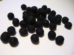 Huovutettu helmi musta n. 10 mm (5 kpl/pss)