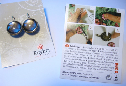 Rayher korvakoru pronssinvärinen/oksidoitu 17 mm + lasikapussi (1 pari/pakkaus)