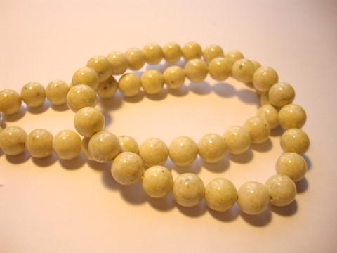 Marmori värjätty keltainen pyöreä 8 mm (10 kpl/pss)