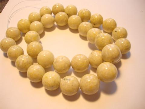 Marmori värjätty keltainen pyöreä 12 mm (10 kpl/pss)