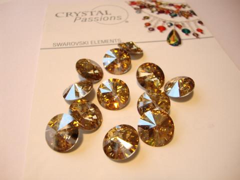 Swarovski kristalli rivoli kulta Golden shadow pyöreä 12 mm