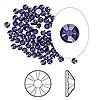 Swarovski strassi tumma violetti tasapohja SS9 2,6 mm (20/pss)
