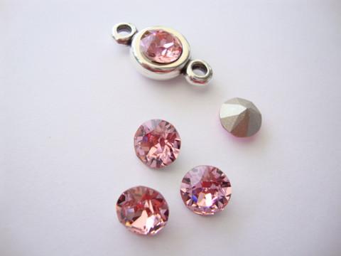 Swarovski kristalli rivoli Blush rose pyöreä 8 m SS39 (2 kpl/pss)