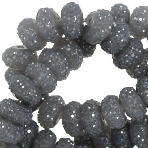 Kimallerondelli tumma harmaa 6 x 8 mm (10 kpl/pss)