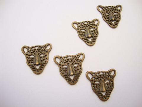 Korulinkki / riipus Leopardi pronssi 21 x 20 mm