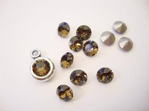 Swarovski kristalli rivoli savukvartsi pyöreä 8 m SS39 (2 kpl/pss)