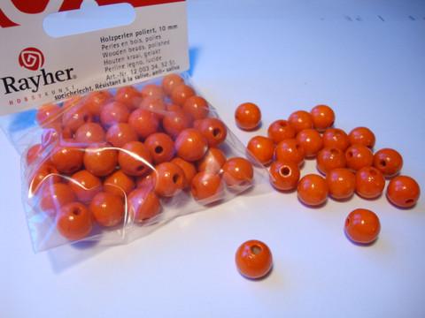 Rayher Puuhelmi oranssi 12 mm (32 kpl/pss)