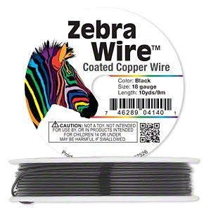 Zebra Wire kuparilanka musta 18 gauge = 1,02 mm (9 m kela)