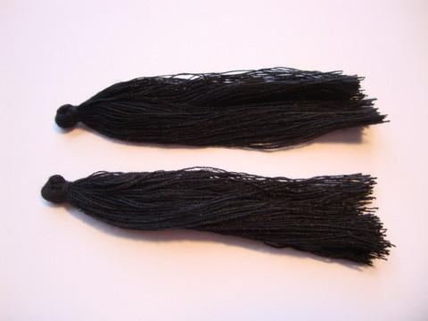 Tasselitupsu musta n. 70 mm (2 kpl/pss)