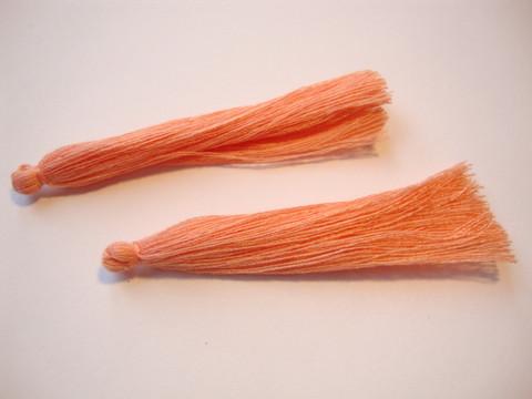 Tasselitupsu koralli/oranssi n. 70 mm (2 kpl/pss)