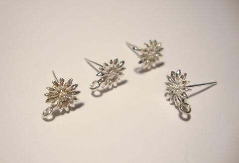 Bali 925 hopea korvakorupiikki 12 x 9.3 x 1.8 mm ( 2 kpl/pss)