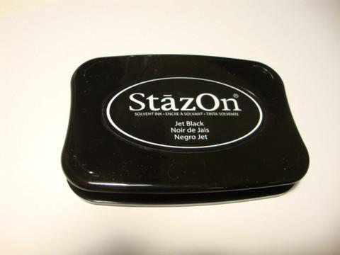 StaZon leimasinväri / mustetyyny Jet Black (musta)