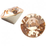 Swarovski kristalli rivoli vaalea persikanpunainen pyöreä 8 mm SS39 (2 kpl/pss)