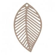 Riipus Bohemian Lehti Taupe 29 x 20 mm (2 kpl/pss)