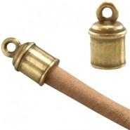 Nauhanpää liimattava antiikkipronssi 4 - 5 mm nauhalle, 12 x 7 mm (4 kpl/pss)