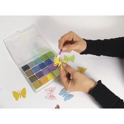Pastelliliiturasia 20 väriä kimalle, askartelukäyttöön