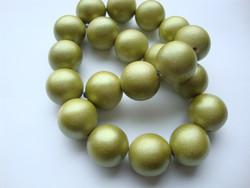 Puuhelmi Metallic vihreä pyöreä 20 mm (10 kpl/pss)