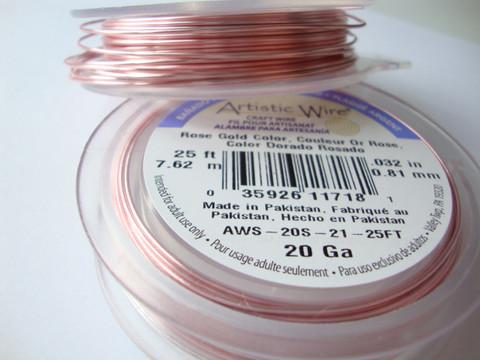 Beadalon Artistic Wire -metallilanka ruusukulta 20 Gauge = 0,81 mm (7,6 m kela)