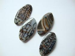 Riipus Opaali (imit.) musta/harmaa ovaali n. 49 x 26 mm