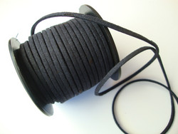 Mokkanauha (faux suede) tummansininen 2,5 x 1,2 mm (m-erä 5 m)