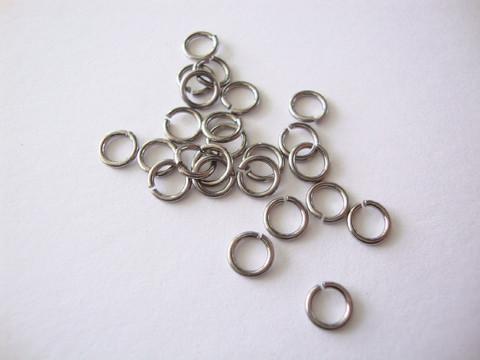 Niobium välirengas 5 x 0,81 mm tumma harmaa (2 kpl/pss)
