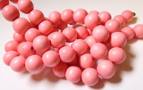 Puuhelmi vaaleanpunainen / vaalea pinkki 12 mm (n. 35 kpl/nauha)