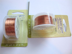 Beadalon Artistic Wire -metallilanka natural (kuparinvärinen) 30 Gauge = 0,26 (27 m)