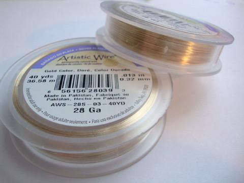 Beadalon Artistic Wire -metallilanka ruusukulta 28 Gauge = 0,32 mm (36 m)