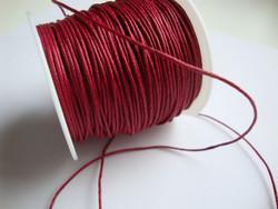 Puuvillanauha vahattu tummanpunainen 0,8 mm (m-erä 1 m)
