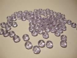 Tsekkiläinen fasettihiottu lasihelmi rondelli vaalea lila/laventeli 3 x 5 mm (30 kpl/pss)