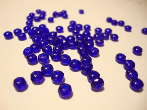Tsekkiläinen fasettihiottu lasihelmi rondelli koboltinsininen/kirkkaansininen  3 x 5 mm (30 kpl/pss)