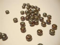 Tsekkiläinen fasettihiottu lasihelmi rondelli opaakki metalliharmaa 3 x 5 mm (30 kpl/pss)