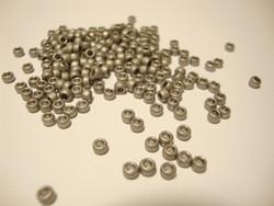 Siemenhelmi antiikkihopea himmeänkiiltävä opaakki 8/0 3 mm, reikä 1,2 mm (10 g/pss)
