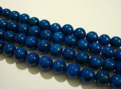 Marmori värjätty sininen pyöreä 6 mm (25 kpl/pss)