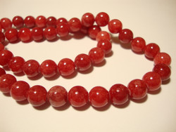 Marmori värjätty korallinpunainen 6 mm (25 kpl/pss)