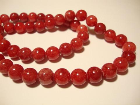 Marmori värjätty korallinpunainen 8 mm (20 kpl/pss)