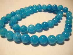Marmori värjätty akvamariinin sininen pyöreä 12 mm (10 kpl/pss)