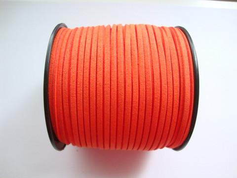 Mokkanauha (faux suede) oranssi 3 x 1,4 mm (m-erä 5 m)