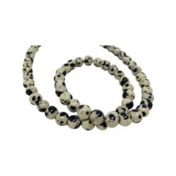 Jaspis (Dalmatian Jasper) pyöreä 6 mm(20 kpl/pss)
