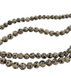 Jaspis (Dalmatian Jasper) pyöreä 8 mm (20 kpl/pss)