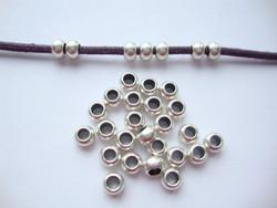 Metallihelmi/hela (slider) antiikkihopeoitu 3 x 5 mm (10 kpl/pss)