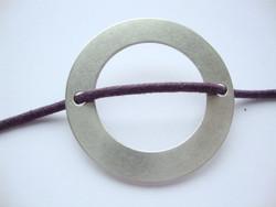 Korulinkki / riipus Rengas antiikkihopeoitu 38 mm, reikien halkaisija 3,1 mm
