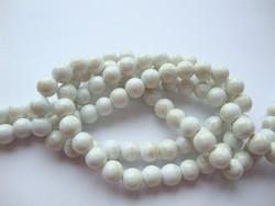 Lasihelmi glaseerattu kiiltävä valkoinen-vaalea beige 8 mm (20 kpl/pss)