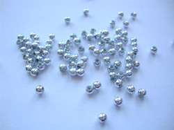 ABS muovihelmi hopeanvärinen kirkas pyöreä 3 mm (n. 200 kpl/pss)