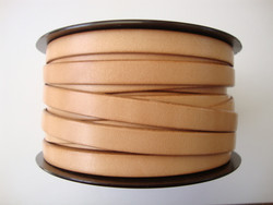 Nahkanauha litteä luonnonvärinen/vaalea 10 x 2 mm sileä nappanahka (m-erä 20 cm)