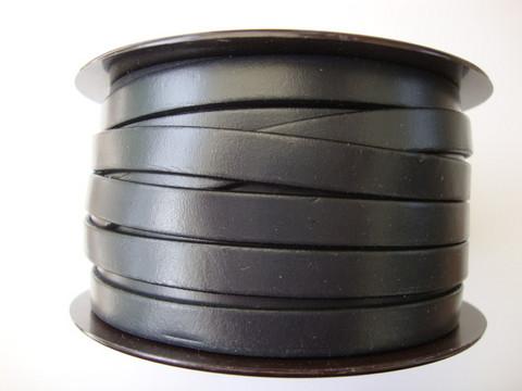 Nahkanauha litteä tummanharmaa 10 x 2 mm sileä nappanahka (m-erä 20 cm)
