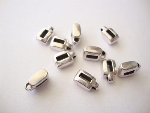 Metallihelmi/hela (slider) riipuspidike 4 x 11 mm 5 mm nahkanauhalle