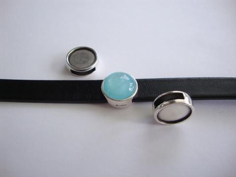 Metallihelmi/hela (slider) 14 mm/sopii 12 mm kapussille 10 mm nahkanauhalle